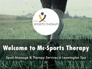 Mc-Sports Therapy Presentation