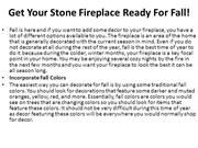 Get Your Stone Fireplace Ready For Fall!