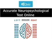 Accurate Neuropsychological Test Online