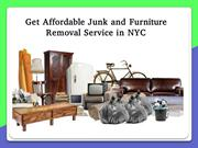 Get Affordable Junk and Furniture Removal Service in NYC