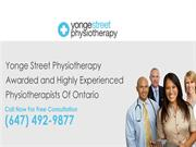 Yonge Street Physiotherapy Awarded and Highly Experienced Physiotherap