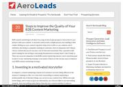 Steps to Improve the Quality of Your B2B Content Marketing