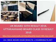 UK Board 10th Result 2018, Uttarakhand Board Class 10 Result 2018
