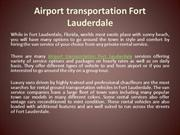 Airport transportation Fort Lauderdale