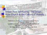 520-10 The Urban Poor Church and the Culture of Poverty 530