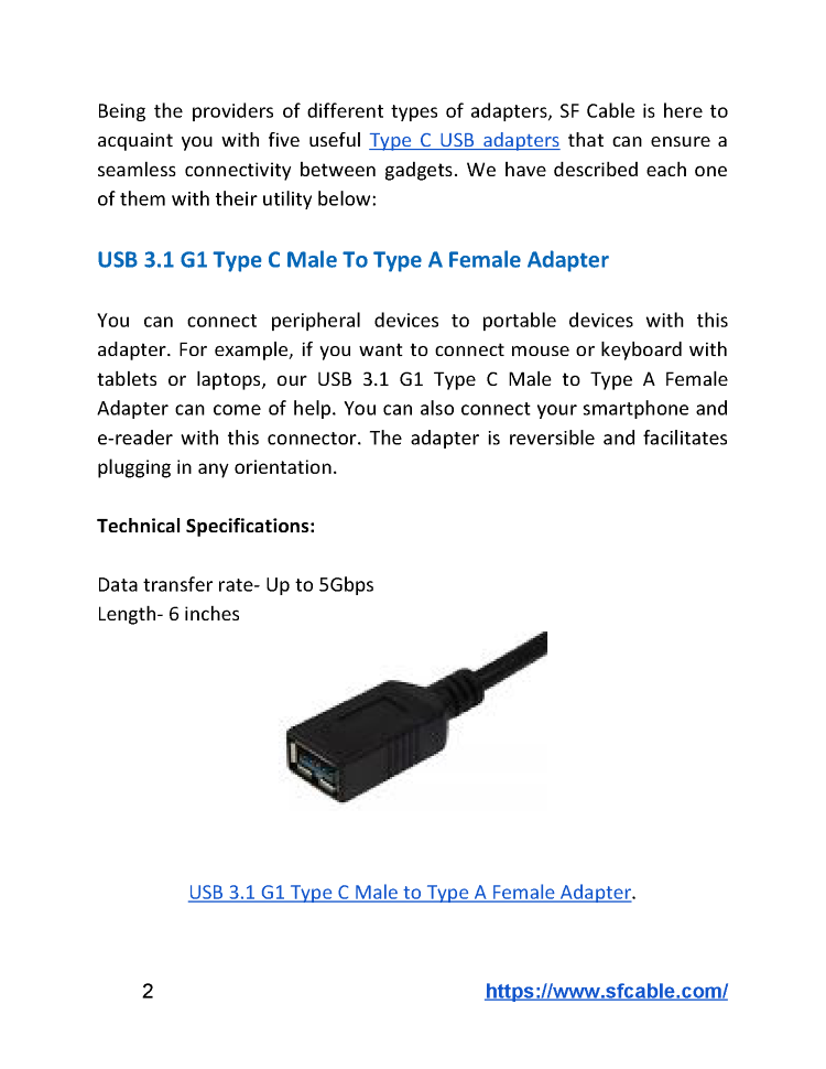 Five Types of USB Type-C Adapters You Must Know about