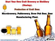 Start Your Own Craft Brewery or Distillery (Startup)......