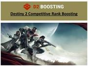 Destiny 2 Competitive Rank Boosting