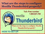 What are the steps to configure Mozilla Thunderbird properly?