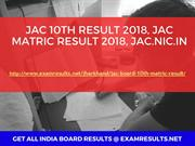 JAC 10th Result 2018, JAC Matric Result 2018, jac.nic.in