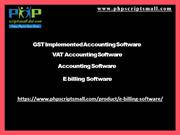 GST Implemented Accounting Software, VAT Accounting Software, Accounti
