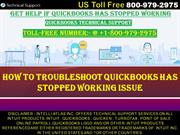 How to Troubleshoot Quickbooks Has Stopped Working Issue