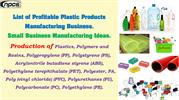 List of Profitable Plastic Products Manufacturing Business.