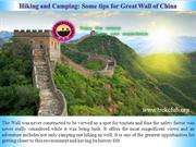 Hiking and Camping Some tips for Great Wall of China