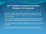 NLP Training Program Powered by Wisdom Tree Solutions