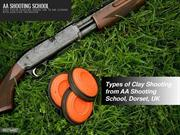 Types of clay shooting from AA Shooting School, UK