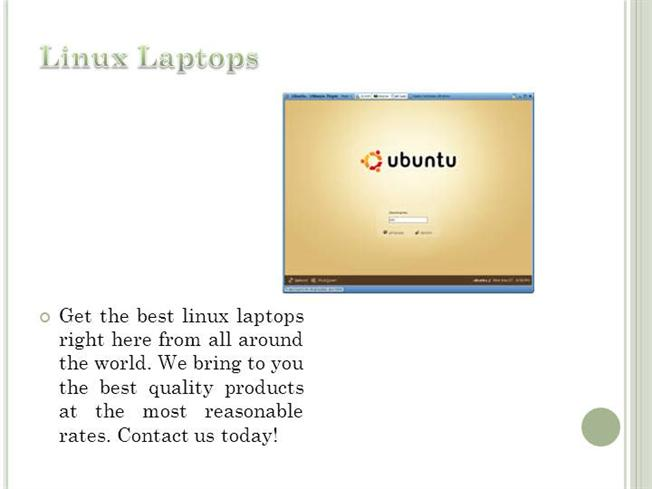 Laptop With Linux Os |authorSTREAM