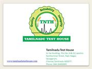 Waste Water Testing Lab in Chennai - TNTH