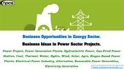 Business Opportunities in Energy Sector.