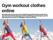 Gym workout clothes online