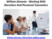 William Almonte - Working With Recruiters And Personnel Counselors