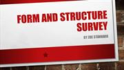Forms and Structure Survey