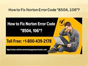 How to Fix Norton Error Code