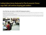 Indian cyber army in Media