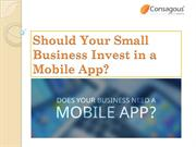 Should Your Small Business Invest in a Mobile App