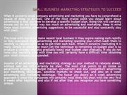 Small Business Marketing Strategies to Succeed