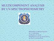 MULTICOMPONENT ANALYSIS BY UV-SPECTROPHOTOMETRY