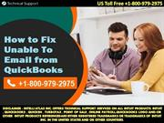 How to Fix Unable To Email from QuickBooks