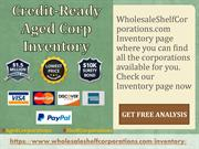 Credit-Ready Aged Corp Inventory - Wholesale Shelf Corporations