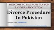 Procedure Of Divorce In Pakistan