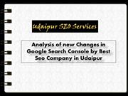 Analysis of new Changes in Google Search Console
