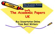 The Academic Papers UK - Buy Dissertation Online from Best Writers