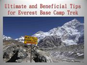 Ultimate and Beneficial Tips for Everest Base Camp Trek