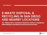 E-Waste Disposal & Recycling in San Diego and Nearby Locations