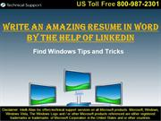 How to Write the Best Resume in Word By Using LinkedIn Tool