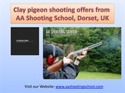 Clay pigeon Shooting offers from AA Shooting School, Dorset, UK