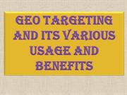 Geo Targeting and Its Various Usage and Benefits