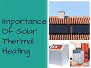 Solar Thermal Heating--Best Energy Conservation Source