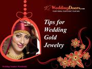 Tips for Wedding Gold Jewelry