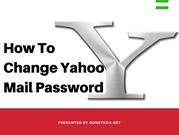 Change Yahoo Mail Password In The Easy Step Guide -2018