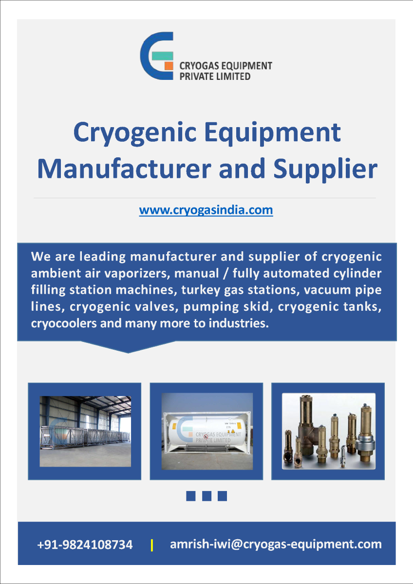 Best Cryogenic Equipment Supplier Company - Cryogas Equipment ...