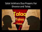 Salat Istikhara Dua Prayers For Divorce and Talaq