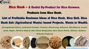 Rice Husk – A Useful By-Product for Rice Growers.