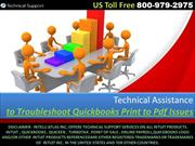 Technical Assistance to Resolve Quickbooks Print to Pdf Issues