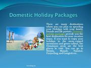 Best Domestic Holidays Packages