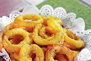 Spiced Onion Rings at jungle restaurant